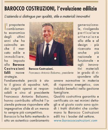 12 Dicembre 2015 - Anche il Sole24ORE parla della Barocco