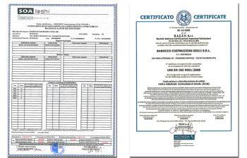 26 Febbraio 2016 - Rinnovo Certificazione ISO ed aggiornamento SOA