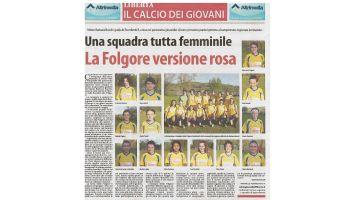 27 Aprile 2016 - Una squadra tutta femminile - Folgore versione rosa