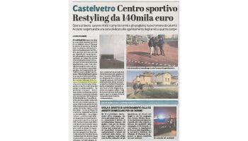 20 Febbraio 2017 - Restyling al Centro Sportivo di Castelvetro Piacentino.