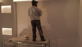 Tinteggio parete sol. F