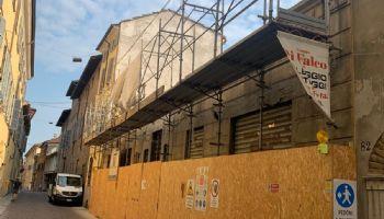 La demolizione vista da Via Romagnosi